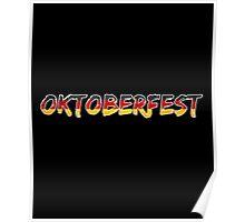 Oktoberfest Classic Vintage Germany Flag Poster