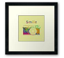 Smile on the camera Framed Print