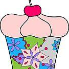Cupcake with cherry by Marishkayu