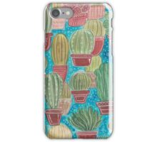 Watercolor Cactus Pattern iPhone Case/Skin