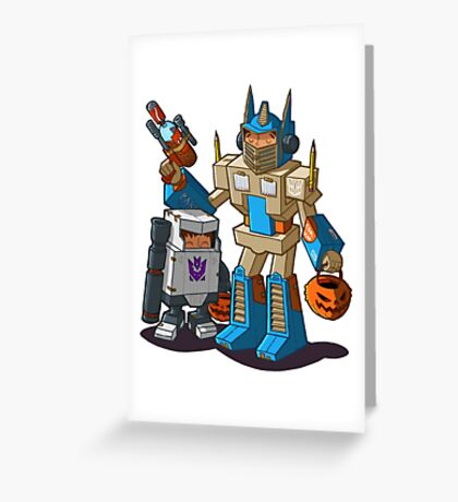 Halloween robot costume Greeting Card