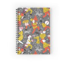 Mid Century Marching Band Parade Spiral Notebook