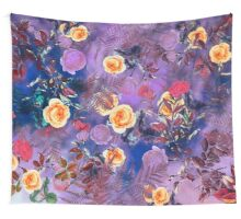 Flowers purple Wall Tapestry