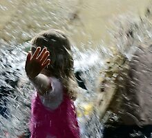 Water Wall Fun by Glenda Williams