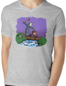 Freddy and Jason Parody mash up Mens V-Neck T-Shirt