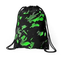 Painter was here - green Drawstring Bag