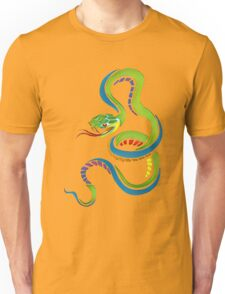 Colorful Abstract Snake Art Unisex T-Shirt