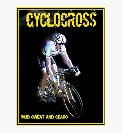 CYCLOCROSS; Vintage Bicycle Racing Advertising Print Photographic Print