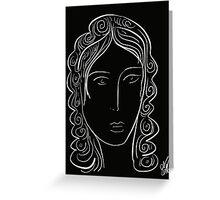 Black and white minimalist portrait Greeting Card