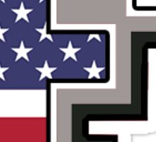 Fordham University American Flag Sticker
