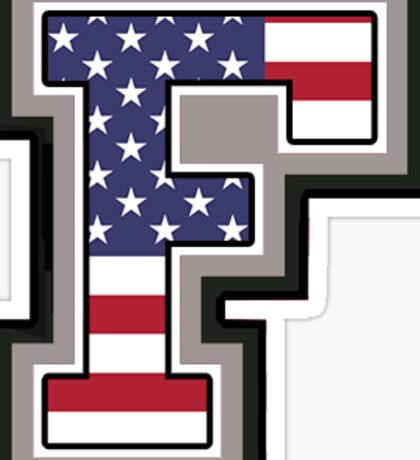 Fordham University American Flag Sticker