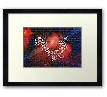 English Calligraphy Abc  Framed Print