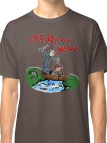 Freddy and Jason - Calvin and Hobbes Mash Up Classic T-Shirt