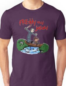 Freddy and Jason - Calvin and Hobbes Mash Up Unisex T-Shirt