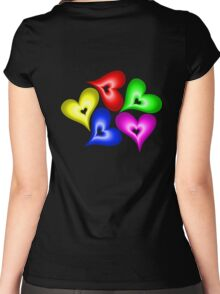 Playful Hearts Women's Fitted Scoop T-Shirt