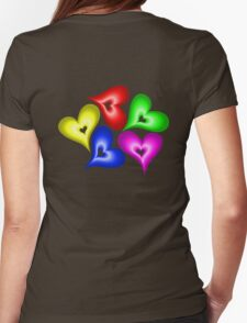 Playful Hearts Womens Fitted T-Shirt