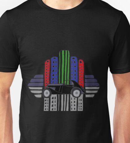 Cool Art Deco Car and Buildings Unisex T-Shirt