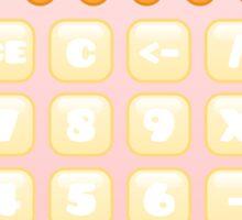 kawaii pink calculator Sticker