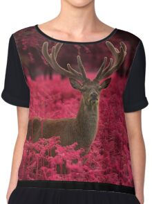 Another Stag, Another Planet Chiffon Top