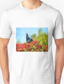 Peacock Amidst Autumn Colours - Impressions Unisex T-Shirt