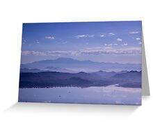 Misty Land - Travel Photography Greeting Card