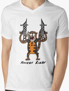 Rocket Rigby Mens V-Neck T-Shirt