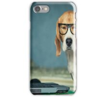 Beagle with glasses and laptop.Cute,cool,digital picture,beagle,dog,pet,laptop,glasses,modern,trendy,fun iPhone Case/Skin