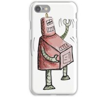 Red and Green Laughing Robot iPhone Case/Skin