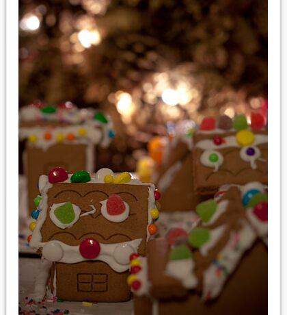 Gingerbread Village Sticker