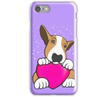 Love You Bull Terrier Puppy iPhone Case/Skin