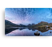 Dove Lake Boatshed Panorama Canvas Print