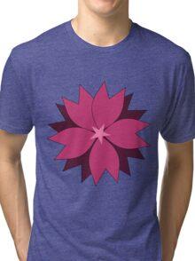 Pink vector flower digital art Tri-blend T-Shirt