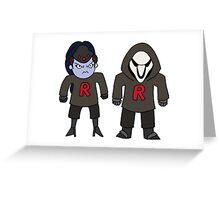 Rocket Grumps WIDOWMAKER & REAPER want to fight! Greeting Card