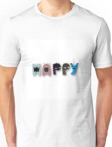 Monster happy,monster letters,monster,happy,fun,upbeat,modern,trendy,typography.cool text Unisex T-Shirt
