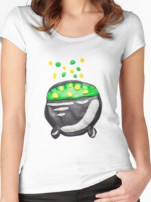 Plasticine magical pot Women's Fitted Scoop T-Shirt