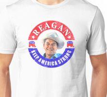 Retro 80s Reagan Keep America Strong Unisex T-Shirt