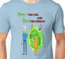 Morty the dog and Rick the human Unisex T-Shirt