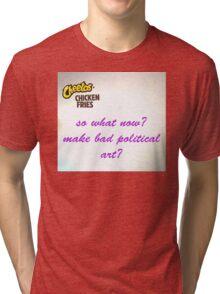 bad political art: option 2 Tri-blend T-Shirt