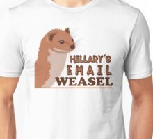 Hillary's Email Weasel FBI Director Parody Unisex T-Shirt