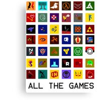 All The Games Canvas Print