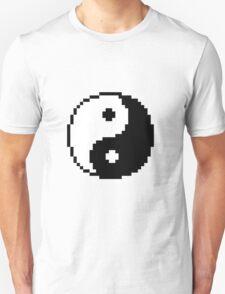 Pixel Yin and Yang Sign Unisex T-Shirt