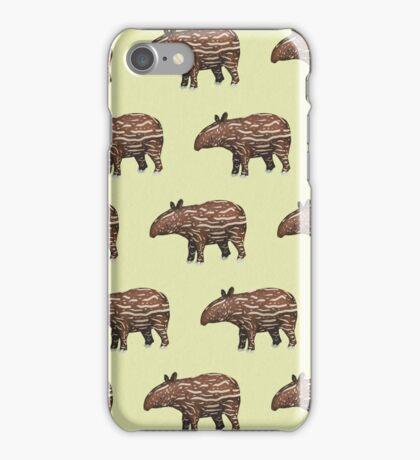 Animals of Malaysia - Baby Malayan Tapir  iPhone Case/Skin