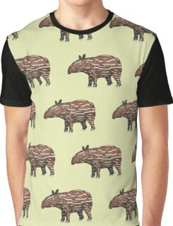 Animals of Malaysia - Baby Malayan Tapir  Graphic T-Shirt