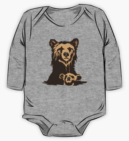 Grizzly Beer Mascot One Piece - Long Sleeve