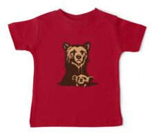 Grizzly Beer Mascot Baby Tee
