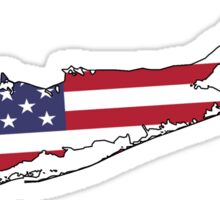 Long Island American Flag Sticker