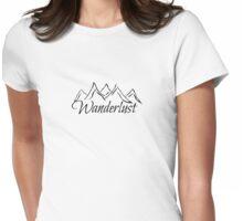 Wanderlust Mountain Range Womens Fitted T-Shirt
