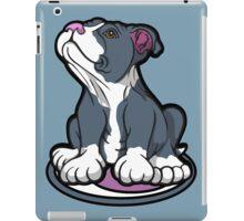 Bull Terrier Puppy Teal Blue iPad Case/Skin