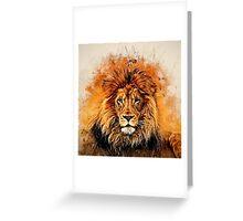 Liquid Lion Greeting Card