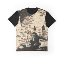 Map Of Newport 1933 Graphic T-Shirt